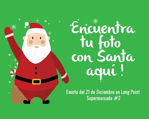 Encuentra tu foto con Santa / Supermercado #2- Long Point