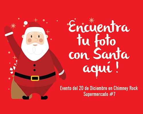 Encuentra tu foto con Santa / Supermercado #7- Chimney Rock